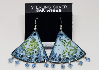 Enamel Copper Earrings