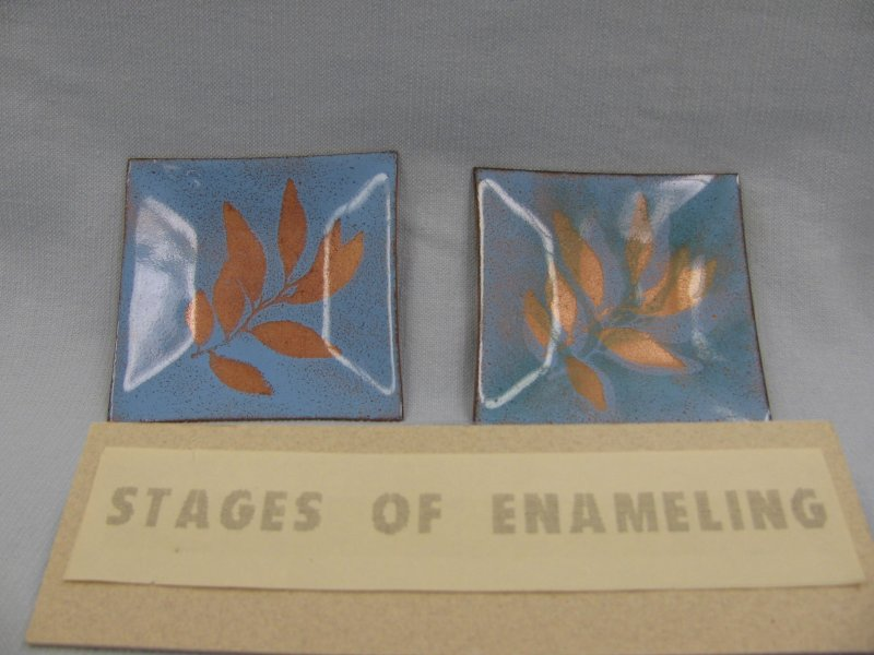 Stages of Copper Enameling