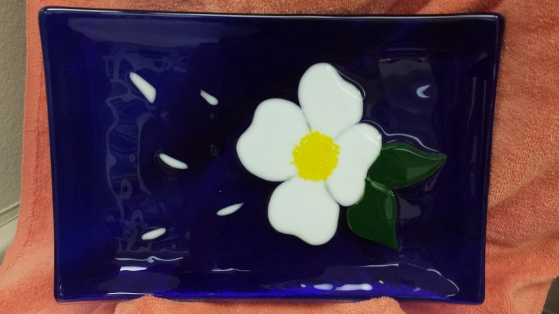 Cobalt Blue Dish - Fused Glass