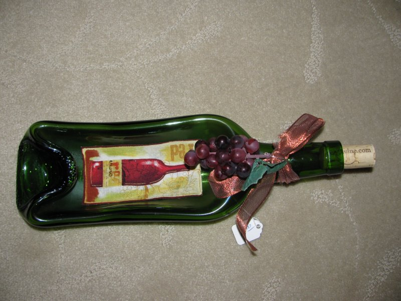 Slumped Wine Bottle